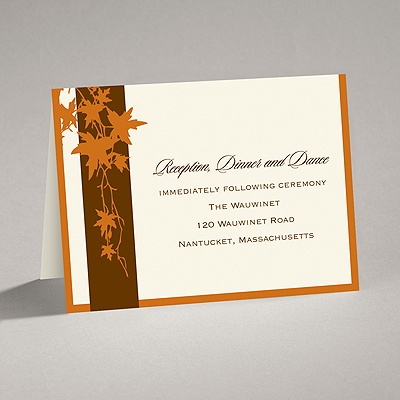 Band of Leaves - Terra Cotta - Reception Card