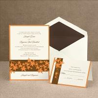 Band of Leaves - Orange - Invitation