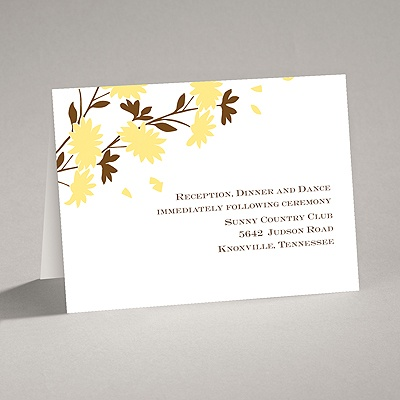 Golden Fall Flowers - Reception Card
