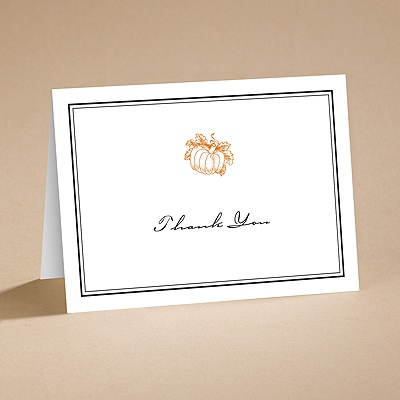 Pumpkin Spice - Thank You Folder with Verse and Envelope