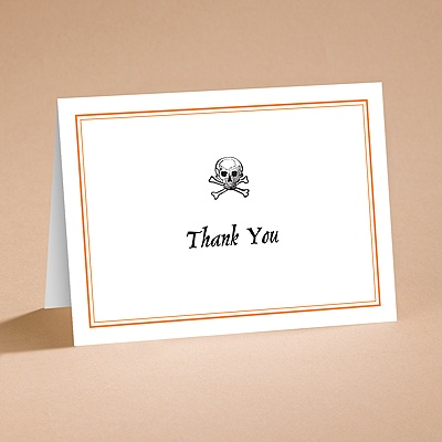 Halloween Style - Thank You Folder with Verse and Envelope