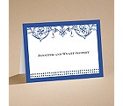 Filigree Flowers - Sapphire Blue - Note Card and Envelope