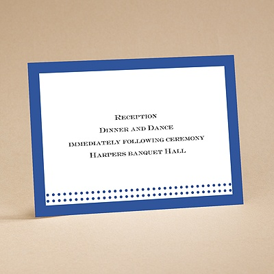 Filigree Flowers - Sapphire Blue - Reception Card