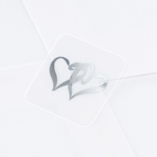 Blank Silver Hearts Wedding Seal