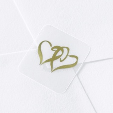 Blank Gold Hearts Wedding Seal