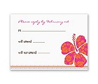 Hibiscus Boarding Pass to Romance - Respond Card and Envelope