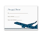 Airplane Boarding Pass to Romance - Respond Card and Envelope