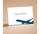 Airplane Boarding Pass to Romance - Note Card and Envelope