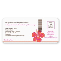 Hibiscus Boarding Pass to Romance - Invitation