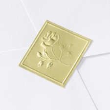 Blank Gold Embossed Rose Wedding Seal