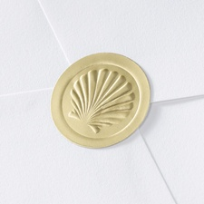Blank Gold Embossed Shell Seal