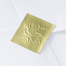 Blank Gold Embossed Leaf Wedding Seal