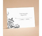 Flourishes - Black - Respond Card and Envelope