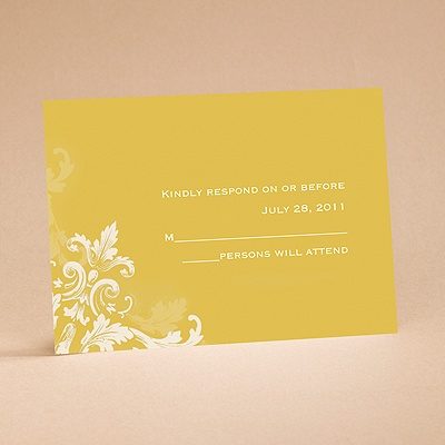 Flourishes - Gold - Respond Card and Envelope
