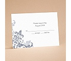Flourishes - Slate Grey - Respond Card and Envelope