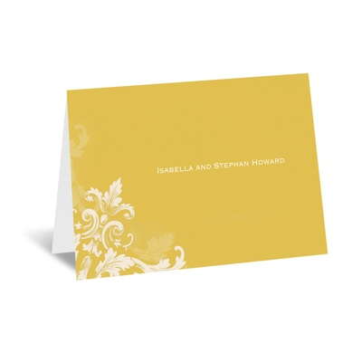 Flourishes - Gold - Note Card and Envelope