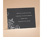 Flourishes - Black - Reception Card