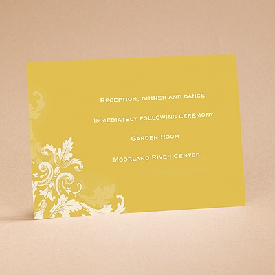 Flourishes - Gold - Reception Card
