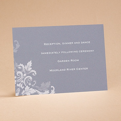 Flourishes - Slate Grey - Reception Card