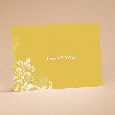 Flourishes - Gold - Thank You Card and Envelope