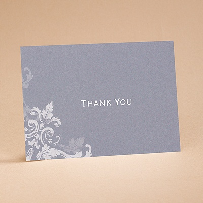 Flourishes - Slate Grey - Thank You Card and Envelope