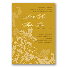 Flourishes - Gold - Invitation