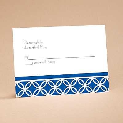 Brilliant Blue - Respond Card and Envelope
