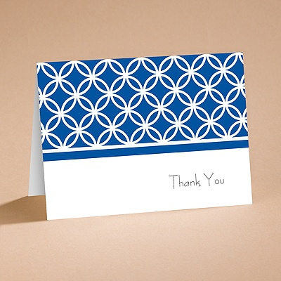 Brilliant Blue - Thank You Card and Envelope