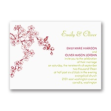 Sweet Cherry Blossoms - Petite Invitation
