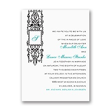 Ornate Monogram - Petite Invitation