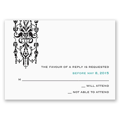 Ornate Monogram - Response Card and Envelope