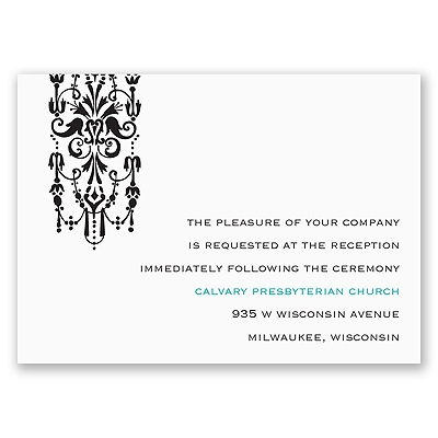 Ornate Monogram - Reception Card