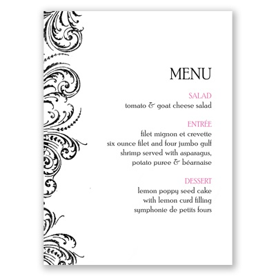 Heart Beats - Menu Card