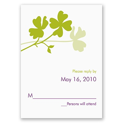 Floral Silhouettes - Response Card and Envelope