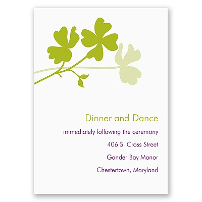 Floral Silhouettes - Reception Card