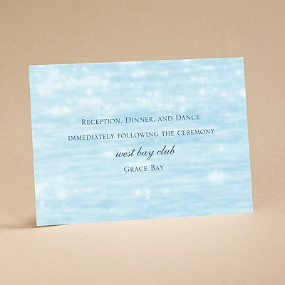 On the Water - Reception Card