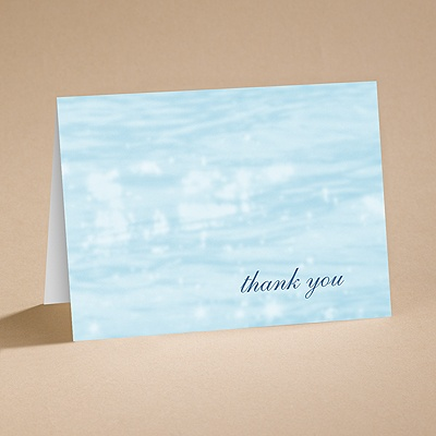 On the Water - Thank You Card and Envelope