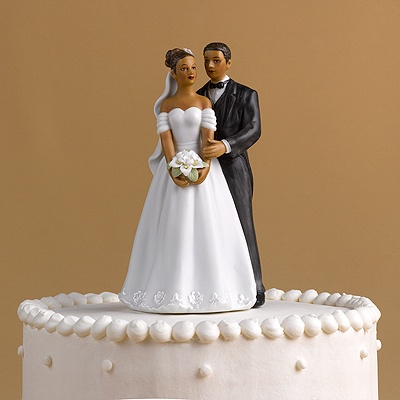 African American Couple Cake Top