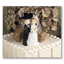 Porcelain Couple Cake Top