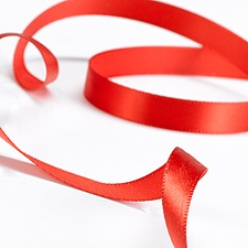 Satin Ribbon - 100 Yards - Red