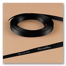 Black Satin Ribbon - Personalized