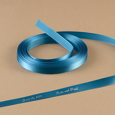 Turquoise Satin Ribbon - Personalized