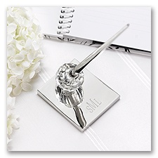 Crystal Ball Wedding Pen Set