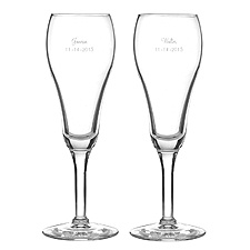 Custom Tulip Shaped Toasting Flutes