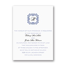 Framed Monogram - Petite Invitation