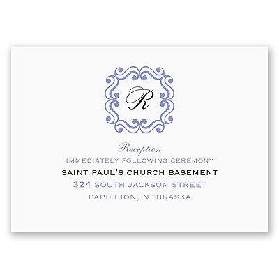 Framed Monogram - Reception Card