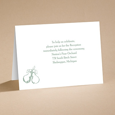 Perfect Pair - Reception Card