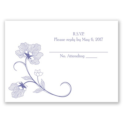 Floral Detail - Respond Card and Envelope