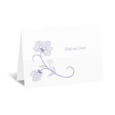 Floral Detail - Thank You Card and Envelope