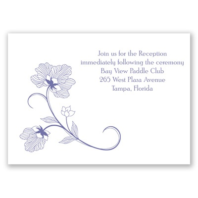 Floral Detail - Reception Card